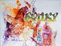 Funky Chickens!, via Flickr.