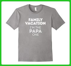 Mens Family Vacation I'm The Papa One Summer Vacation Travel Tee Small Slate - Relatives and family shirts (*Amazon Partner-Link)