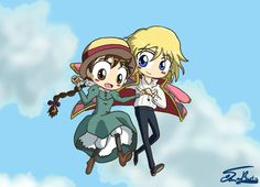 Howl and Sophie... CUTE!