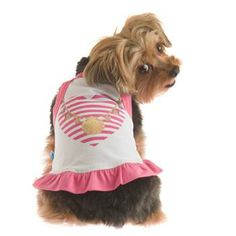 Your pooch is ready to stand out in a crowd with our RuffLuv Shelley's Heart Dog Tank Top.