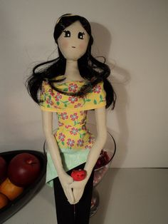 Fabric doll by AccrocheCoeur on Etsy, $50.00