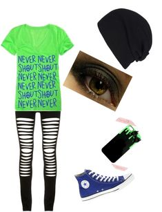 """never shout never"" by ak00 ❤ liked on Polyvore"