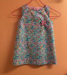 Kit robe fleuri liberty T4 ans 100% coton : Kits, tutoriels Couture par annabellemercerie