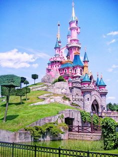 This Sleeping Beauty castle in Disney land Paris and it looks more like the one in the movie then the one in CA