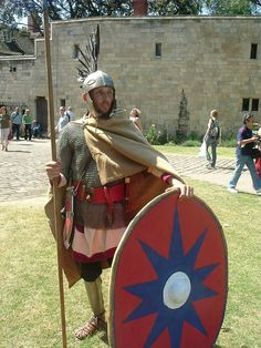 Reenacment of 4rd century AD Roman legionary by Paul Elliott