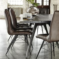 Hix Upholstered Dining Chair, Brown available online at Barker & Stonehouse. Browse our fabulous range today!