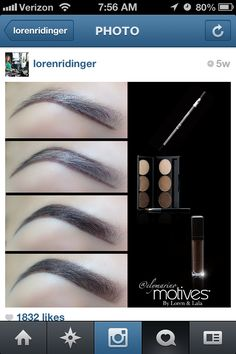 Want the perfect #eyebrow? Check out Motives #makeup brow tutorial Loren ridinger Lala Anthony. You can get these products at Art of Massage Studio and Spa. Call:609-466-0088