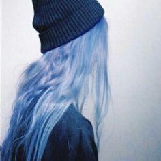 blue long hair tumblr - Google Search