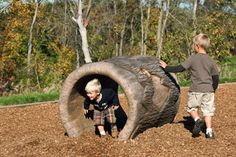 Bring the look and feel of #nature to your #play area with our Log Crawl Tunnel.