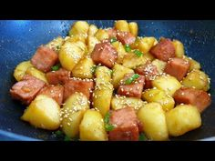 Korean Food, Fruit Salad, Potato Salad, Potatoes, Cooking Recipes, Vegan, Ethnic Recipes, Food, Fruit Salads