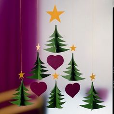 Danish Christmas tree mobile by Flensted Danish Christmas, Noel Christmas, Christmas Paper, Christmas Crafts For Kids, Christmas Activities, Christmas Projects, Holiday Crafts, Christmas Decorations, Christmas Ornaments