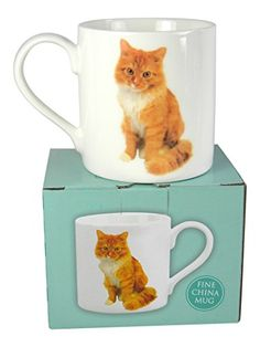 This precious ginger cat mug makes a sweet gift for cat lovers of all ages.