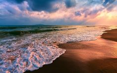 ❥ Beach-Wave-Sunset Wallpaper