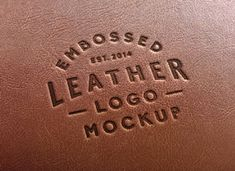 leather stamp logo mock-up   Also great site for other free mock-ups and design resources
