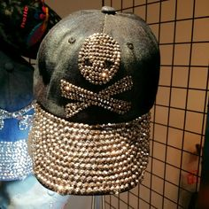 Buy Brand New Korean Style Cap  in Singapore,Singapore. Korean style studded cap in denim material with side frays. Get great deals on K-Wave Chat to Buy