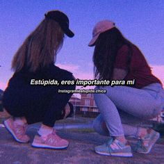 Friends Tumblr Quotes, Besties Quotes, Bffs, Cute Spanish Quotes, Funny Spanish Memes, Cute Love Quotes, Best Friend Pictures, Bff Pictures, Stranger Things Premiere