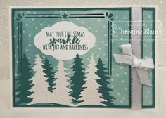 STAMPIN' UP! TRANQUIL TIDE CHRISTMAS CARD