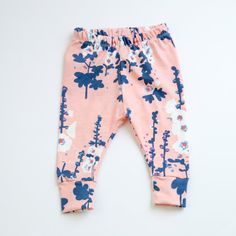 Hey, I found this really awesome Etsy listing at https://www.etsy.com/listing/463530373/pink-floral-leggings-cherry-blossom