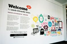 Verbal identity in action at Leeds University Union. Can we have a bolder statement area?