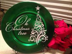 Christmas Tree Charger Decorative Plate OH CHRISTMAS TREE with Christmas Tree graphic by Morning Star General Store, $12.00