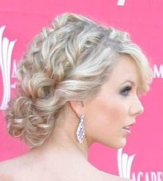 Curl, Twist together vertically and do the natural tease effect and then add chignon. Easy Peasy!