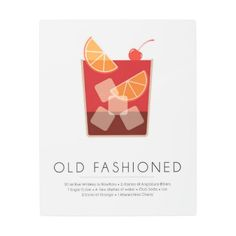 #Posters #Metal #Art - #Classic Cocktail Metal Print - Old Fashioned
