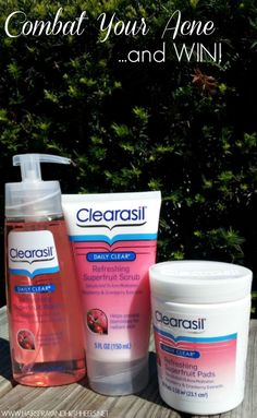 How I Battled My Acne & Won! Clearasil Daily Clear Refreshing Cleansers.