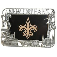 New Orleans Pewter Picture Frame >>> You can get more details by clicking on the image. (This is an affiliate link) #PictureFrames