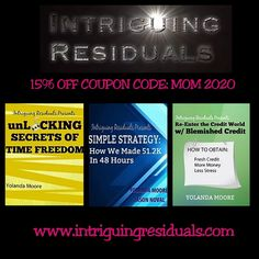 Happy Mother's Day 15%OFF COUPON CODE:  MOM 2020 www.intriguingresiduals.com To Obtain, Happy Mothers Day, Coupon Codes, The Secret, Coupons, Stress, Coding, Mom, Mother's Day