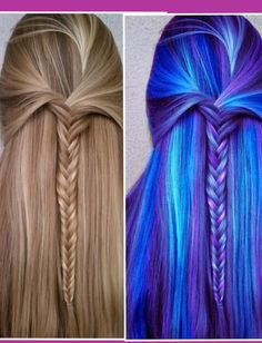 I thought the blue and purple were the real hair colour! What a let down. :-(