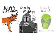 Funny Greetings Cards 3 Designs by AbbeyMassey on Etsy, £5.00