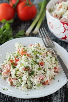 Cauliflower and tomatoes complement each other beautifully in this refreshing salad. We made this often as I was growing up and I still love to serve it, especially with seafood. It is a great variation from coleslaw. The cauliflower is crunchy and grating it makes it almost fluffy. Tomatoes, garlic and herbs are then added …