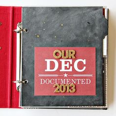December Daily album created by design team member Alissa Fast using our red SN@P! Binder, December Documented collection and Christmas SN@P! Set