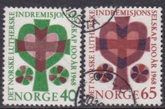 Norway 1968 Heart and Cross Sc#517-518? o - bidStart (item 32143606 in Stamps, Europe, Norway)