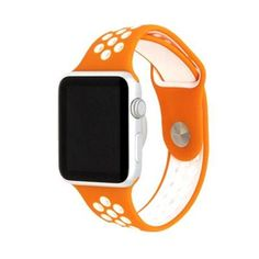 Bring some color to your life with our Active Silicone Apple Watch bands. With over 40 colors to choose from, you can't go wrong with choosing this watch band for your collection. White Apple Watch Band, Smart Watch Apple, Rose Gold Apple Watch, Apple Watch Iphone, Apple Watch Series 2, Apple Watch Bands, Apple Straps, Beautiful Watches, Orange