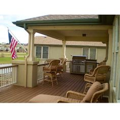Back deck. part covered