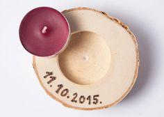 5 portacandele personalizzati betulla titolare di tè leggero