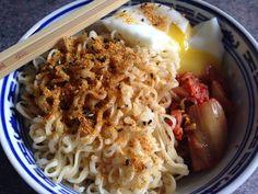 Kimchi Ramen by Frugal Allergy Mom Kimchi Ramen, My Favorite Food, Favorite Recipes, Allergies, Frugal, Mom, Thrifting