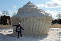 12 foot snow cupcake!!!