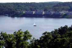 Sailboat on Lake of the Ozarks  Near the toll bridge- Lake Ozark, Missouri