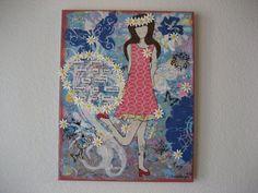 Summer Breeze Girl Canvas