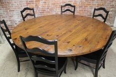 rustic 84 round table - craftsman - Dining Tables - Boston - ECustomFinishes