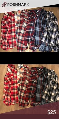 6 forever 21 Flannels. all size small few with tags others barley worn Forever 21 Tops Button Down Shirts