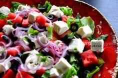 Caprese Salad, Cobb Salad, Feta, Potato Salad, Food And Drink, Potatoes, Cooking, Ethnic Recipes, Book
