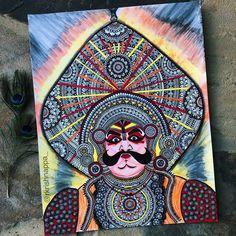 Amazing Learn To Draw Eyes Ideas. Astounding Learn To Draw Eyes Ideas. Kerala Mural Painting, Indian Art Paintings, Madhubani Painting, Canvas Paintings, Easy Paintings, Mandala Design, Mandala Art, Mandala Sketch, Mandala Tattoo
