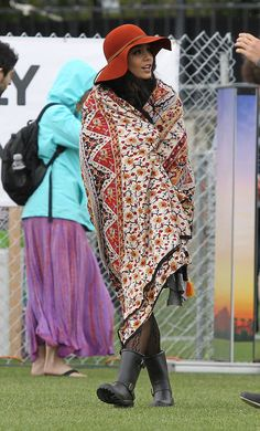 2012: Blankets herself from the strong desert elements:   A History Of Vanessa Hudgens At Coachella