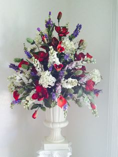 Beautiful red & purple arrangement