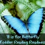 'B is for Butterfly' {Toddler Reading Readiness}