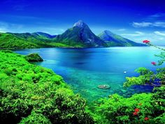 St. Lucia ,The Carribean, as you can see, is a little bit nice.....