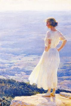 Sunlit Valley (Charles Courtney Curran - 1920)